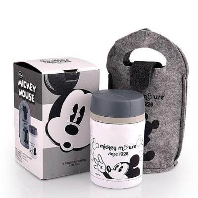 迪士尼 米奇 黑白经典提袋焖烧杯 DSM-5389