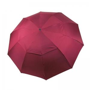 天堂伞 加大防风 双层黑胶晴雨伞32301E