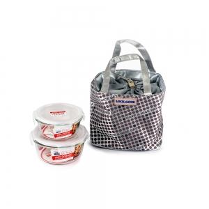 乐扣乐扣 耐热玻璃保鲜盒享乐提袋套装LLG901FU【不包邮!】