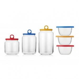乐美雅 快乐居家储物保鲜罐六件套LC-K118G【不包邮!】