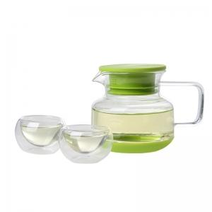 花色 创意6杯水mini tea玻璃茶具套装