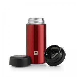 双立人 真空保温茶漏杯420毫升亮光红ZW-BP103