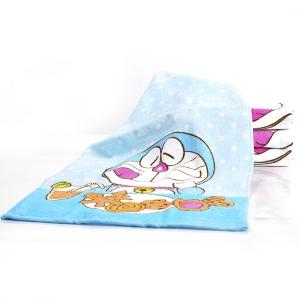 哆啦A梦 全棉成人加大毛巾礼盒蓝色 DM-4510