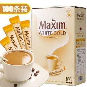 韩国进口白麦馨maxim摩卡三合一速溶咖啡粉100条装