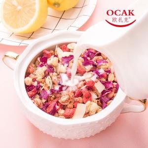 欧扎克 玫瑰草莓坚果麦片400克