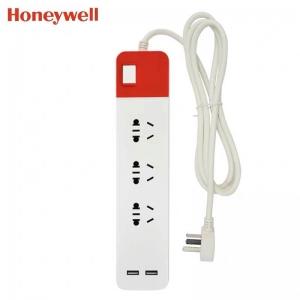 霍尼韦尔 带开关USB三位延长线插座(1.8M)HT3SU2KG【不包邮】